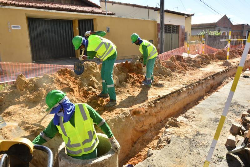 Começa a 2ª etapa das obras do esgotamento sanitário de Floriano