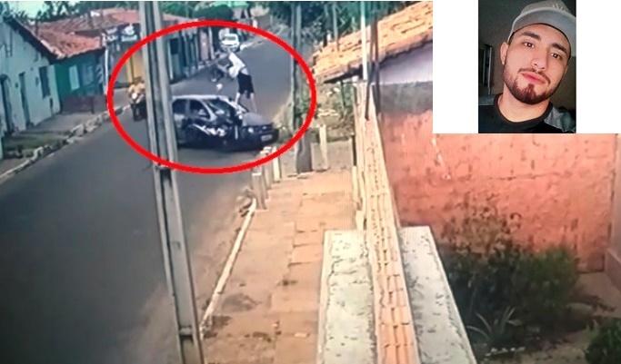 Imagem impressionante mostra jovem sendo arremessado durante acidente no Piauí