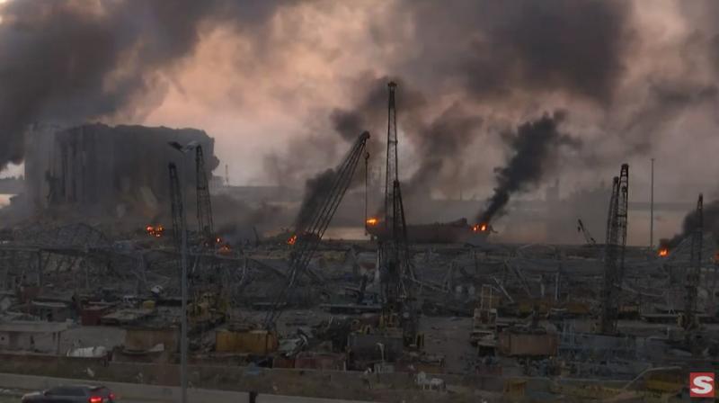 Explosões em Beirute deixam pelo menos 50 mortos e mais de 2,7 mil feridos, diz ministro da Saúde