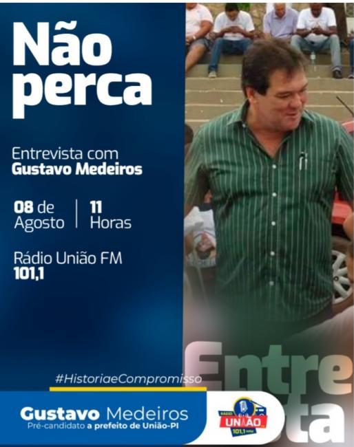Gustavo Medeiros será o entrevistado do programa Mesa Redonda neste sábado (08)