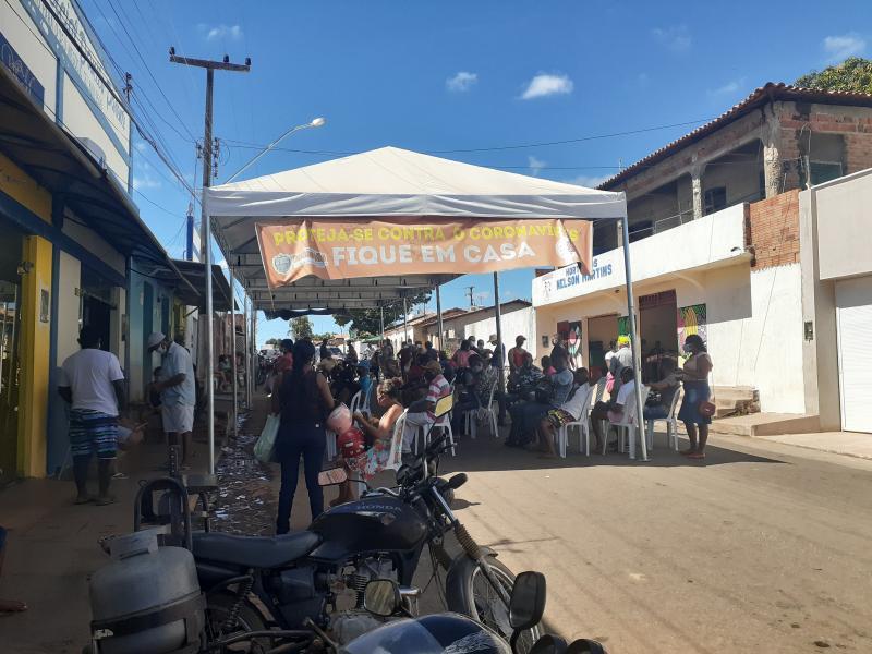 Moradores reclamam do serviço prestado pela Casa lotérica em Redenção do Gurguéia