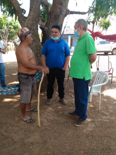 Campo Maior-Humberto filho e João Félix,visita comunidade alto do meio Fortalecendo Pré candidatura