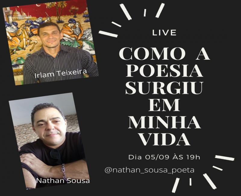 Poetas de São Gonçalo do Piauí gravam uma LIVE sobre a importância da poesia em suas vidas