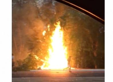 Incêndio assusta pessoas na avenida Marechal Castelo Branco