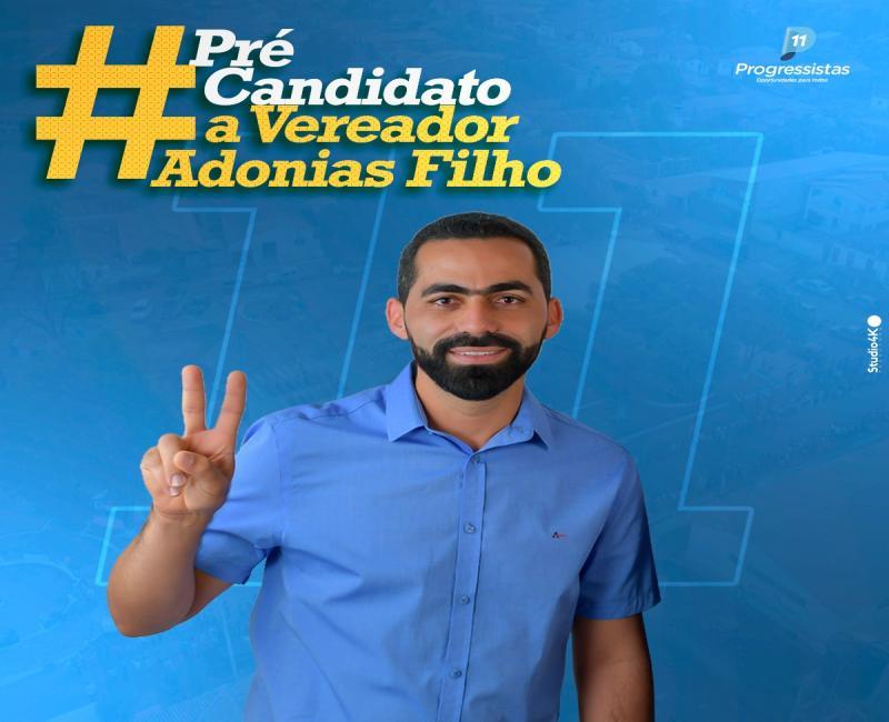 Pré candidato a vereador por Cristalândia, Adonias Filho é competência, compromisso e trabalho.