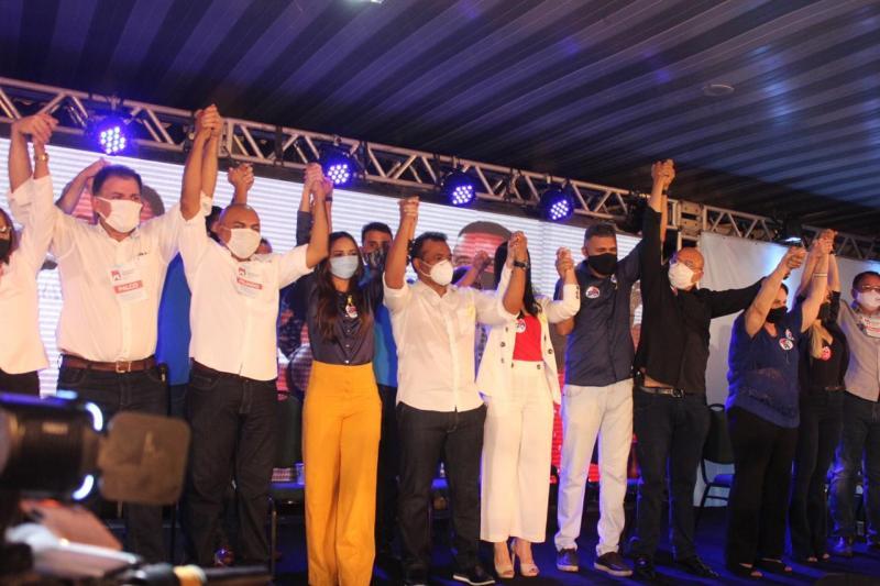 Fábio Abreu recebe apoio de autoridades durante convenção do PL