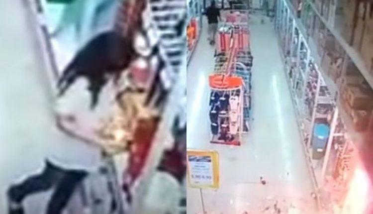 É fake: Criança não causou incêndio no Atacadão; vídeo compartilhado nas redes é de 2018