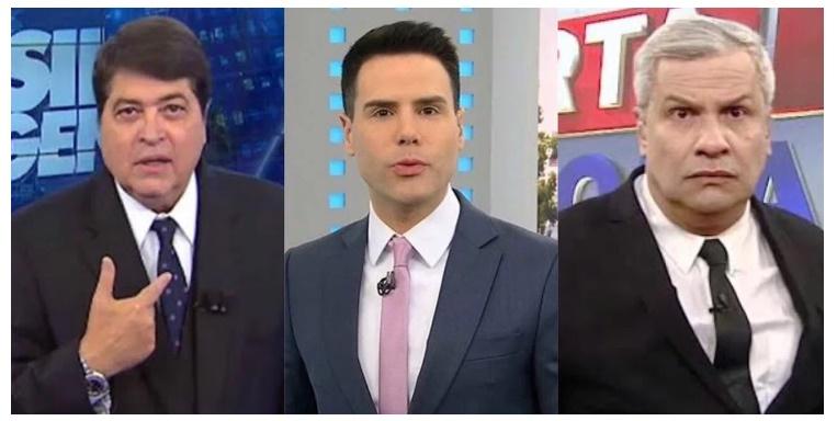 Datena, Luiz Bacci e Sikêra Jr. podem sair do ar a qualquer momento após denúncia ser acatada