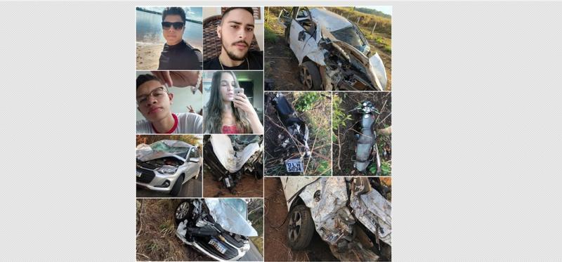Quatro jovens morrem em dois acidentes na BR-010, no Maranhão