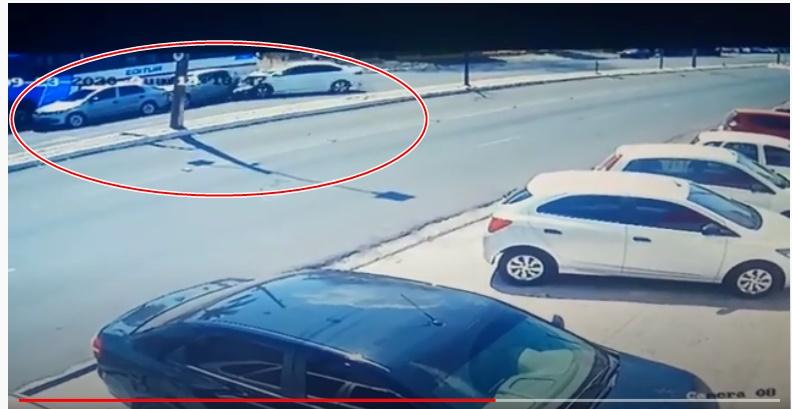 Vídeo mostra momento exato de acidente que matou motociclista na Av. Barão de Gurguéia