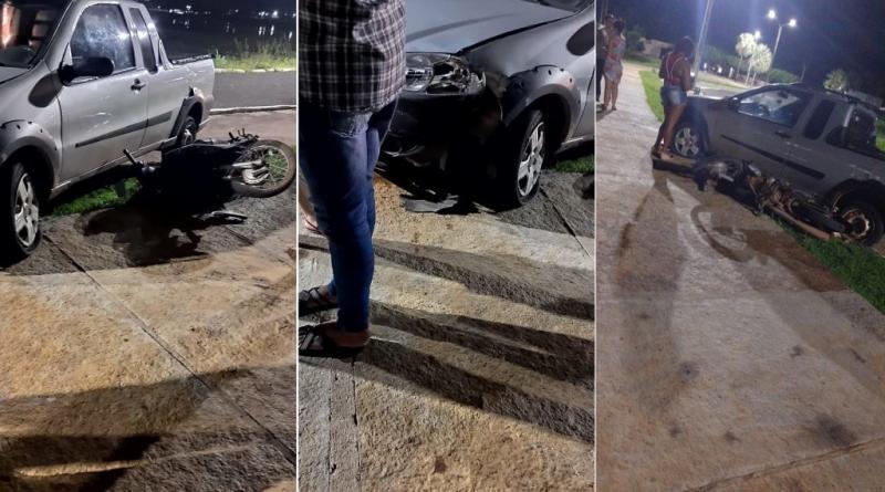 Colisão entre carro e motocicleta deixa mulher ferida no norte do Piauí