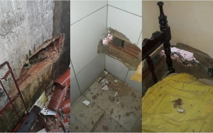 Raio atinge residência e provoca prejuízos em cidade do Piauí; fotos