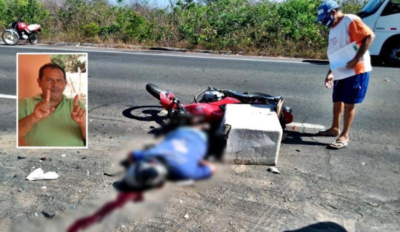 Vendedor de peixe morre ao ter cabeça esmagada por caçamba na BR 343, no Piauí