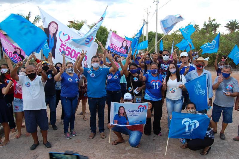 Caminhada marca a retomada da campanha de Karyne do Rodrigão em Cocal de Telha