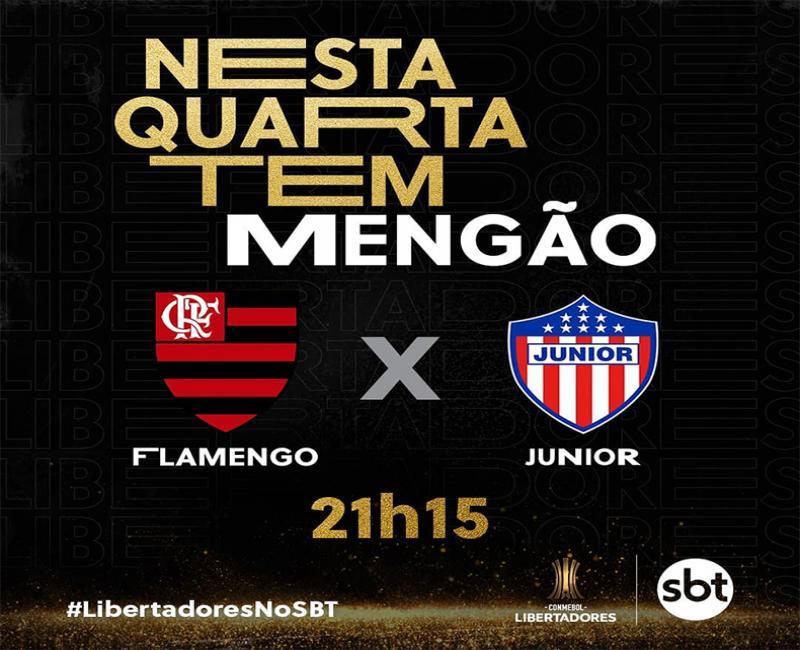 SBT transmite hoje jogo do Flamengo na Libertadores