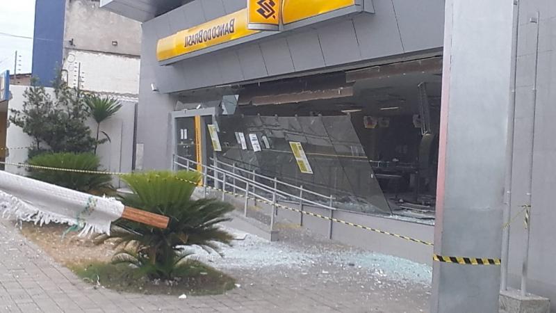 Quadrilha explode Banco do Brasil na zona Leste de Teresina