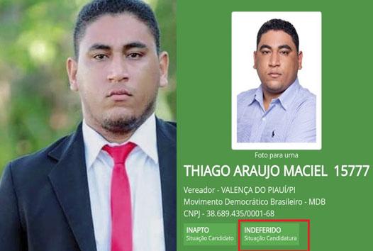 Thiago Maciel tem candidatura à vereador negada pela Justiça