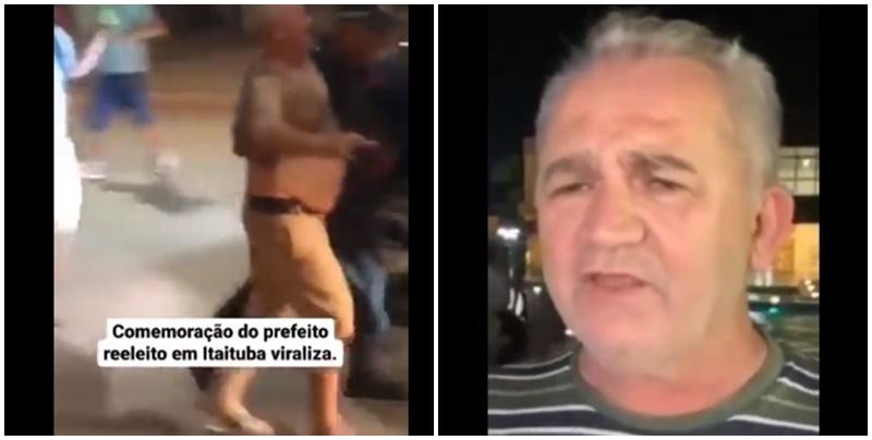 Vídeo: prefeito pede cautela em comemoração, mas é pego embriagado com multidão