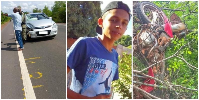 Menino de 14 anos morre após colisão frontal na BR-135, no Piauí