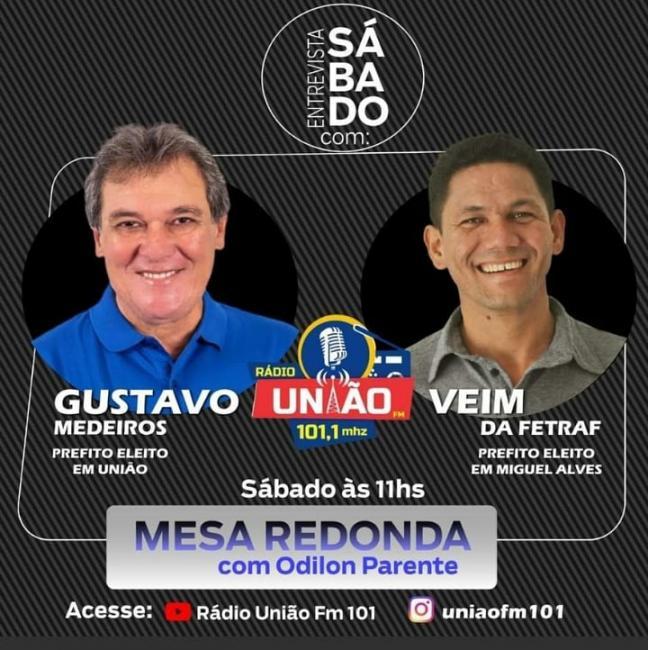 Gustavo medeiros e Veim da Fetraf estarão no mesa Redonda na Rádio União FM 101.1