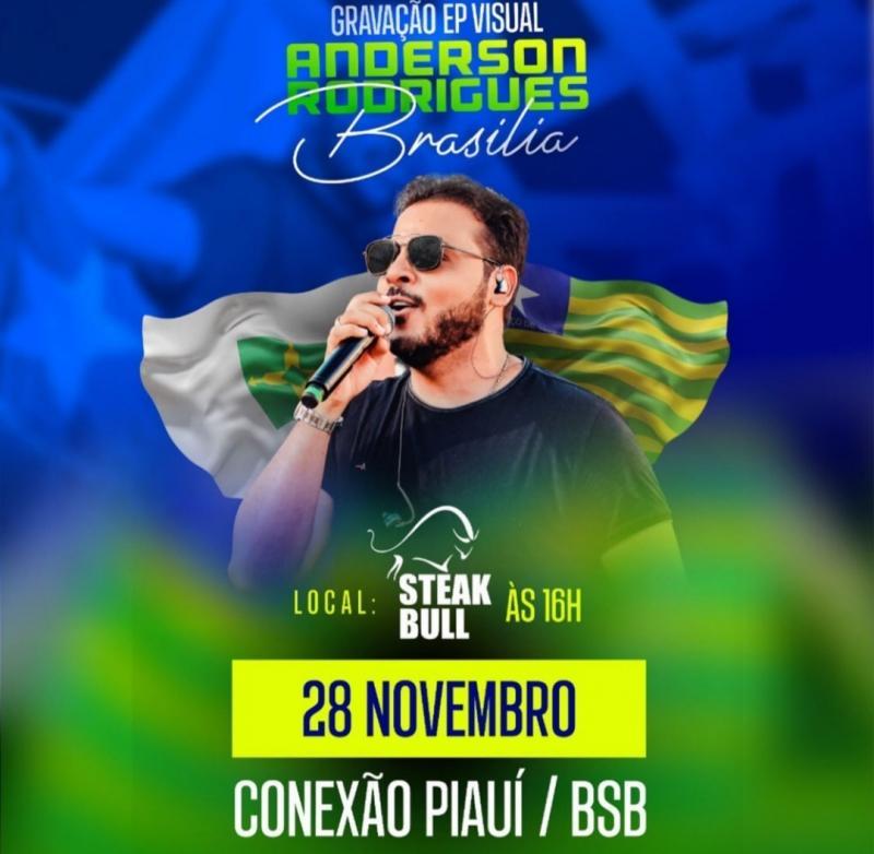 Cantor piauiense grava DVD em Brasília