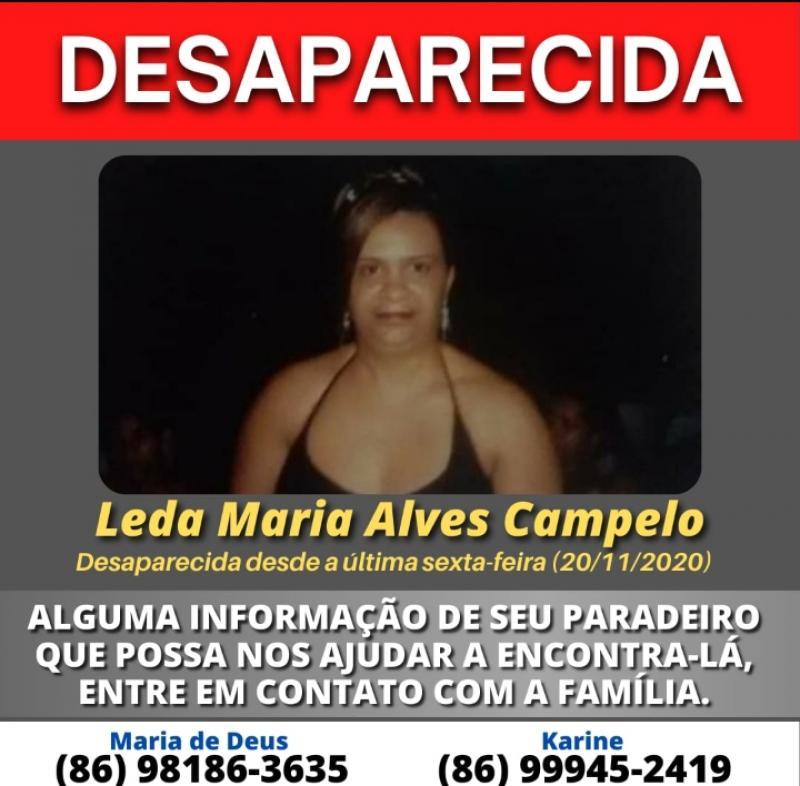 Familiares procuram por mulher desaparecida há 5 dias em Teresina