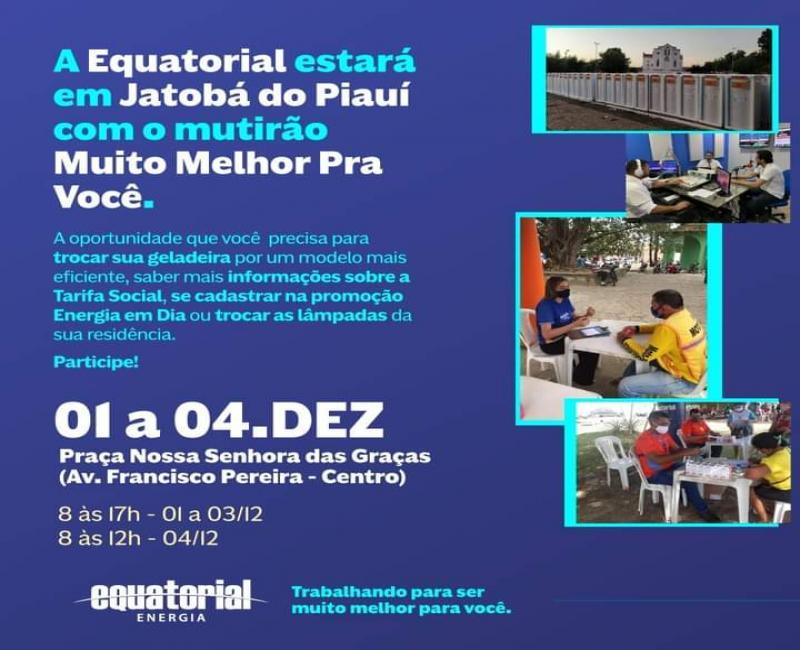 Equatorial Piauí Realiza troca de Geladeiras usadas em Jatoba-Pi