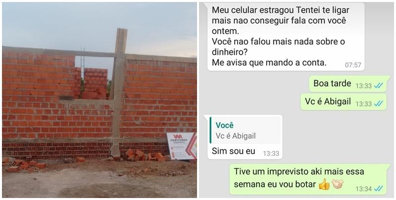 Criminoso se passa por mulher que tentou construir casa sozinha, em Teresina, para pedir doações