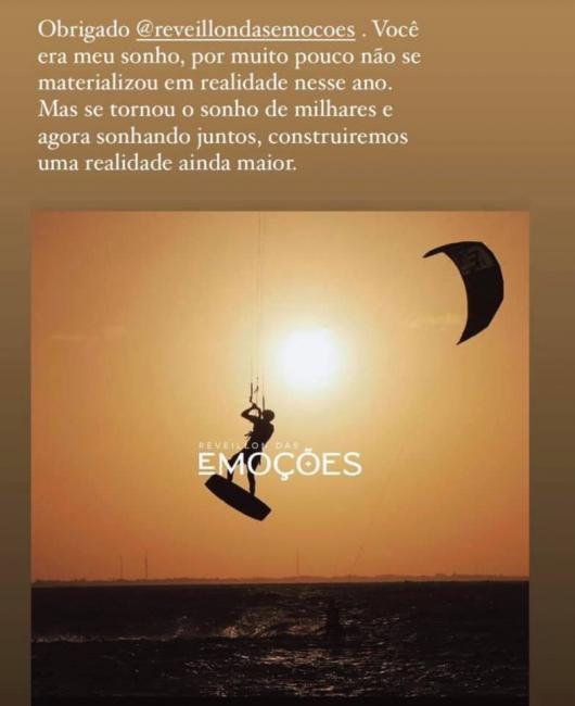 Réveillon das Emoções foi cancelado em Barrinha/Cajueiro da Praia