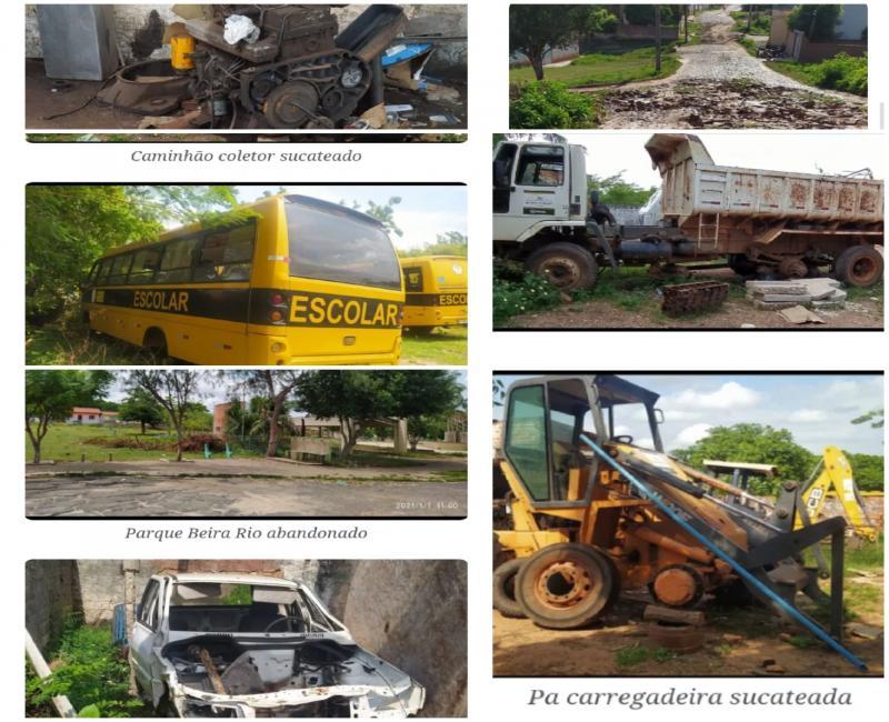 Gustavo Medeiros recebe frota de veículos sucateada e cidade suja
