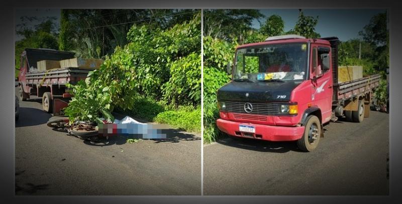 Mototaxista morre ao colidir em carreta na zona rural de Teresina