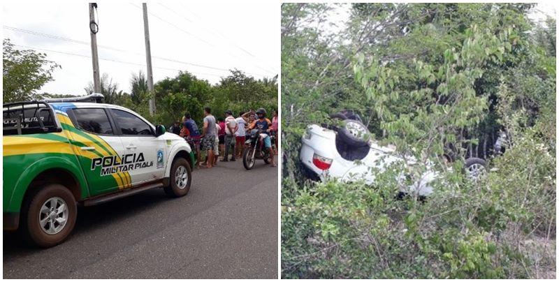 Motorista morre ao perder controle de carro e capotar várias vezes na PI-214
