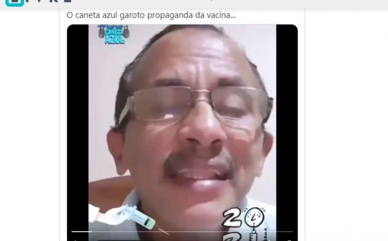 Cantor de 'Caneta Azul' cria canção para vacina contra o coronavírus e viraliza; Veja o vídeo