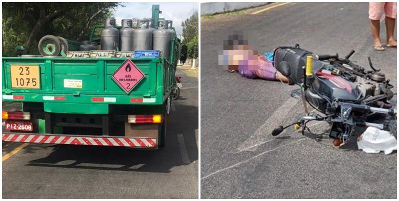 Motociclista morre após ter cabeça esmagada por caminhão no Piauí
