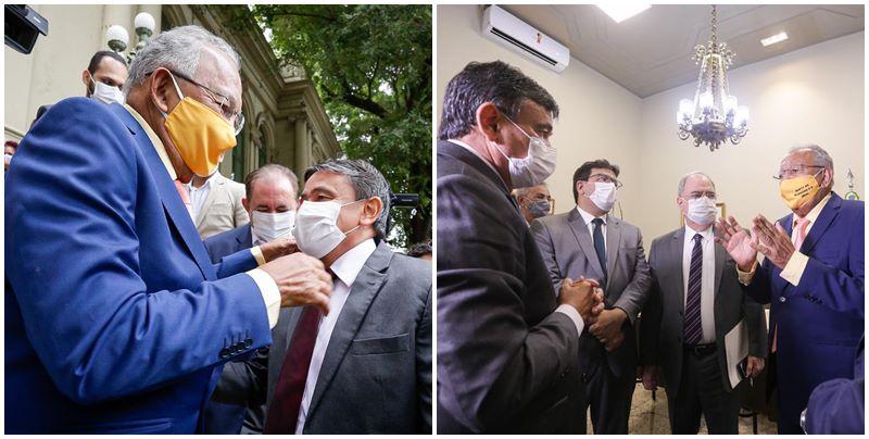 Doutor Pessoa recebe Wellington Dias no Palácio da Cidade e discute parceria administrativa