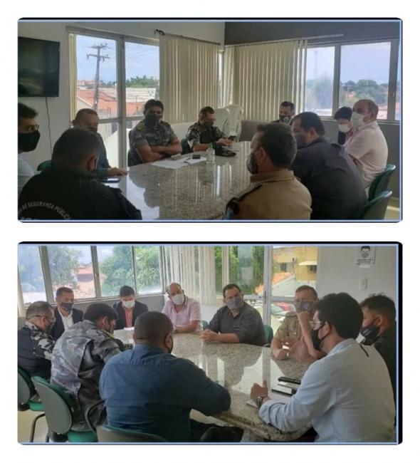 Cúpula da Segurança pública recebe autoridades de União para traçar estratégias de segurança para o