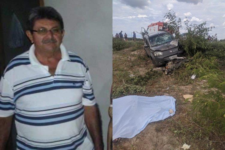 Idoso morre após colisão entre carro e moto na BR-407, no Piauí