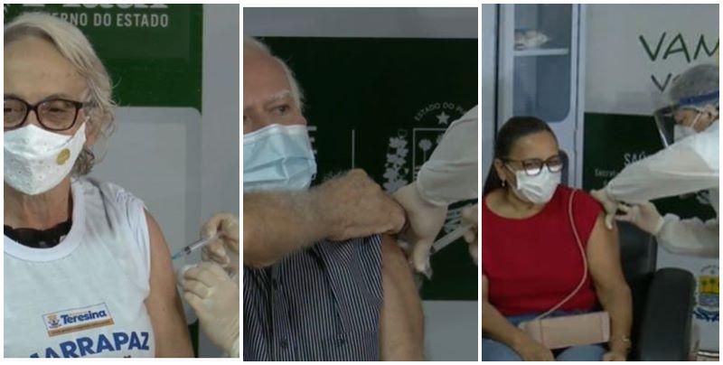 Estado vacina primeiros piauienses contra a Covid-19 em Teresina