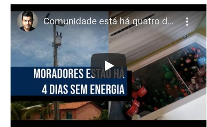 Zona Rural de Redenção do Gurguéia está a quatro dias sem energia elétrica
