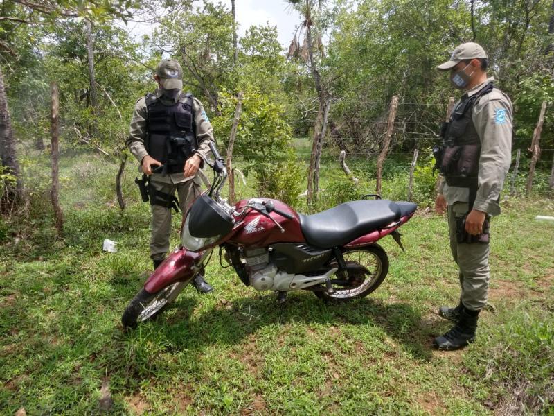Moto roubada em Cabeceiras é recuperada pela PM em Campo Maior