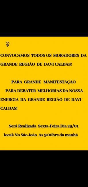 Moradores de David Caldas farão manifestação em prol de melhorias de energia elétrica.