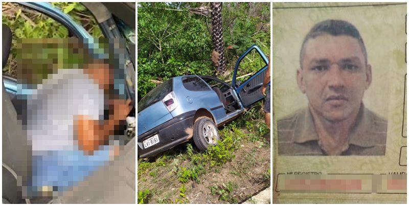 Pedreiro morre no HUT após colidir carro em árvore na PI-130 em Nazária