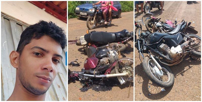 Colisão frontal entre duas motocicletas deixa um morto e outro ferido no Piauí
