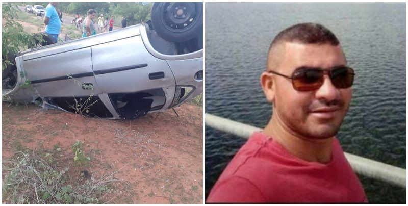 Carro capota e vítima morre ao ser arremessada para fora do veículo no Piauí