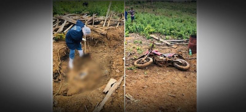 Homem mata 'amigo' e enterrar corpo e a sua moto no quintal de casa