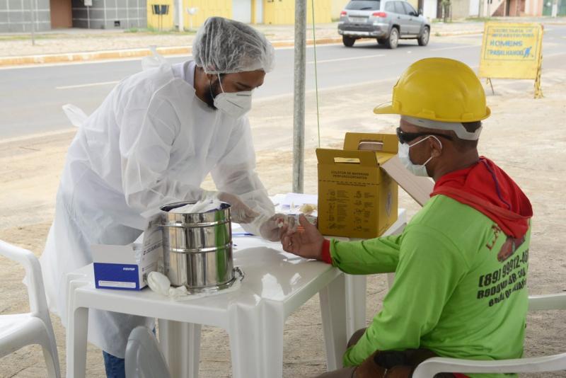 Saúde de Floriano oferta 200 testes rápidos para trabalhadores