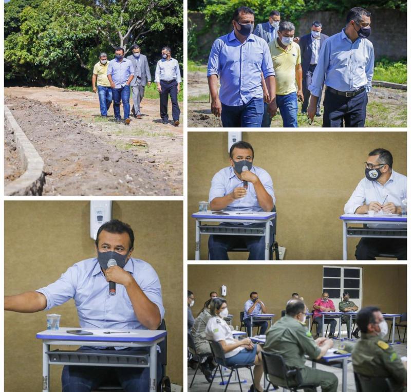 Fábio Abreu visita obras na Acadepol e discute investimentos do Fundo de Segurança