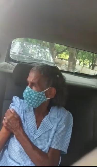 Maria Dalva foi mais uma idosa do Riachão imunizada pela vacina contra a covid 19.
