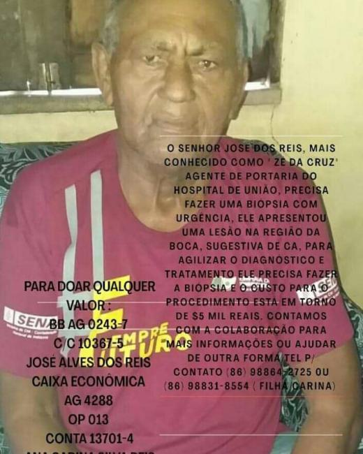 Morre em União Zé da Cruz ex porteiro do Hospital Municipal