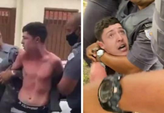 Vídeo mostra PM enforcando funkeiro após cantor reclamar de multa